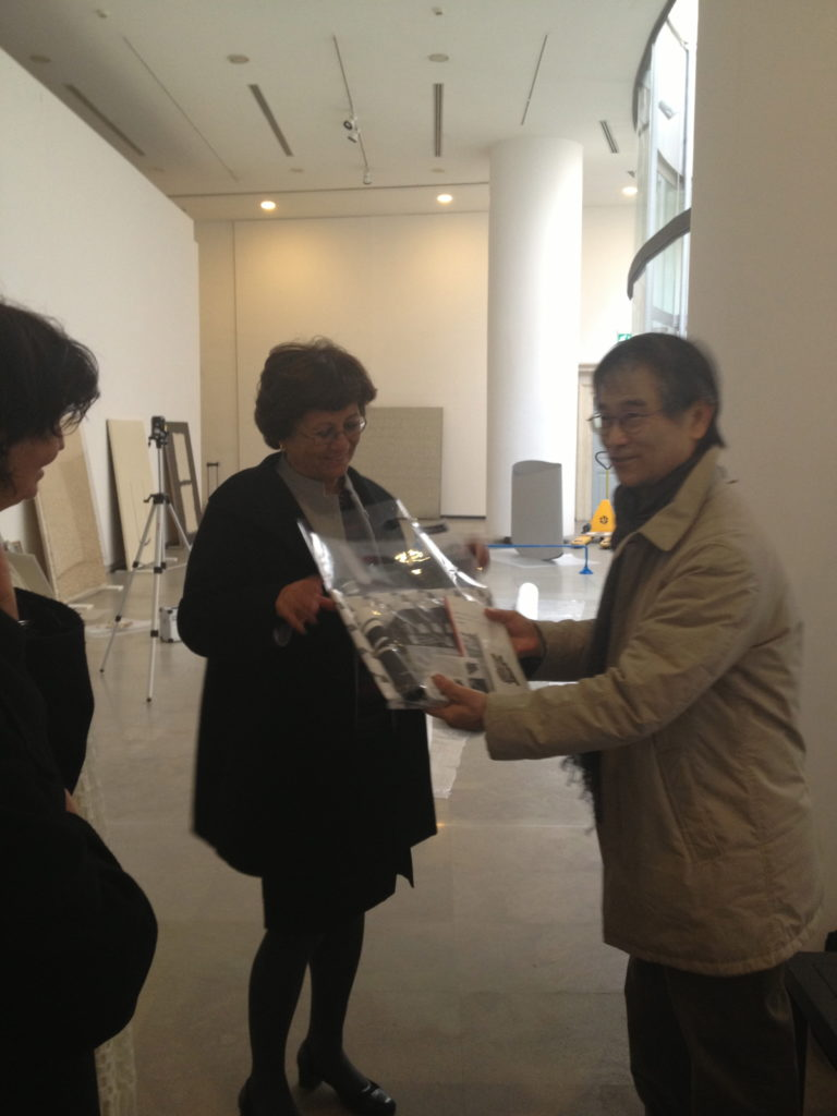the exhibition White & White: Dialogue between Korea and Italy, organized by the National Museum of Contemporary Art, Korea (NMCA)