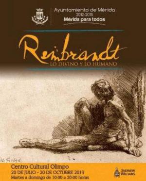 Locandina Rembrandt Divino Umano Colombia