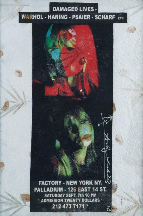 Double Nico (damaged lives) (Assinado por / Signed by Andy Warhol) Serigrafia, caneta de feltro / Papel Silkscreen, drawing pen / Paper 80 x 54 cm