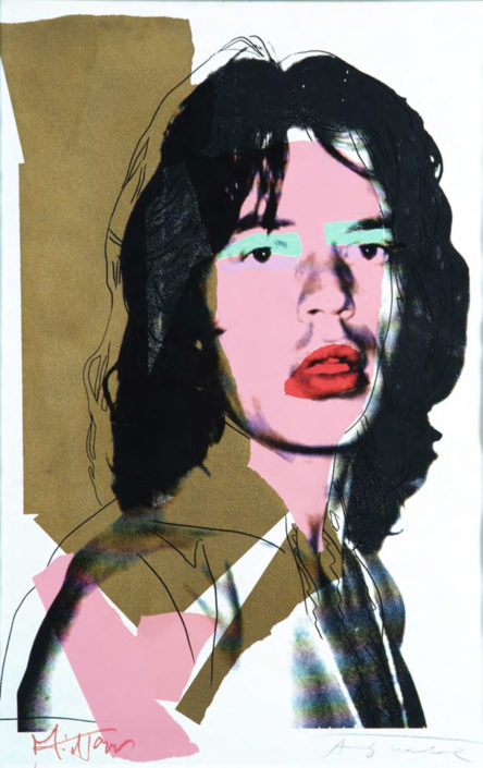 Mick Jagger (Assinado por / Signed by Andy Warhol e Mick Jagger) Serigrafia / Papel Silkscreen / Paper 110,5 x 73,5 cm