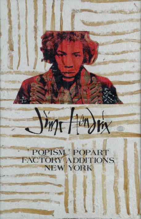 Jimi Hendrix. 1970 (Assinado por / Signed by Pietro Psaier - The Factory) Serigrafia / Papel Silkscreen / Paper 91 x 61 cm