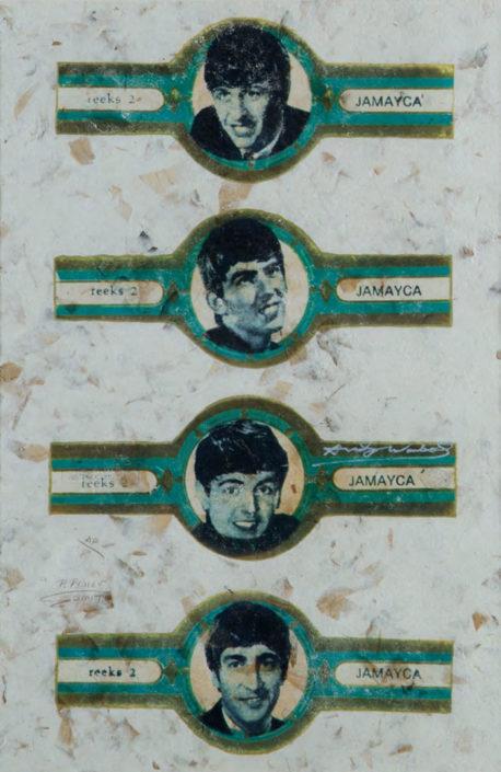 Beatles (Assinado por / Signed by Pietro Psaier e Smith) Serigrafia / Papel Silkscreen / Paper 73 x 48 cm