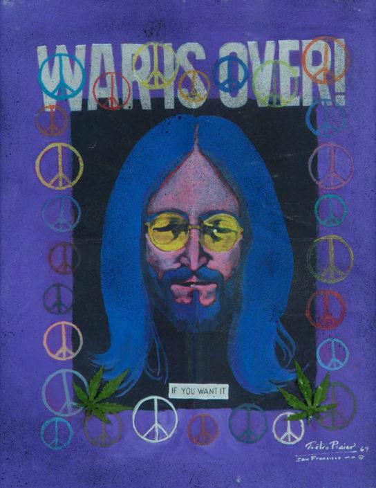 War is Over. 1969 (Assinado por / Signed by Andy Warhol, Pietro Psaier e Smith) Serigrafia / Tela / Silkscreen / Canvas 76 x 61 cm