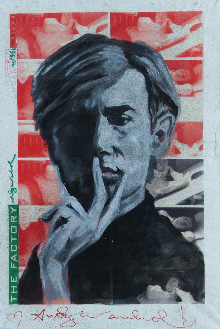 Andy Warhol (Assinado por / Signed by Andy Warhol) Serigrafia e óleo / Tela Silkscreen and oil / Canvas 92 x 61,5 cm