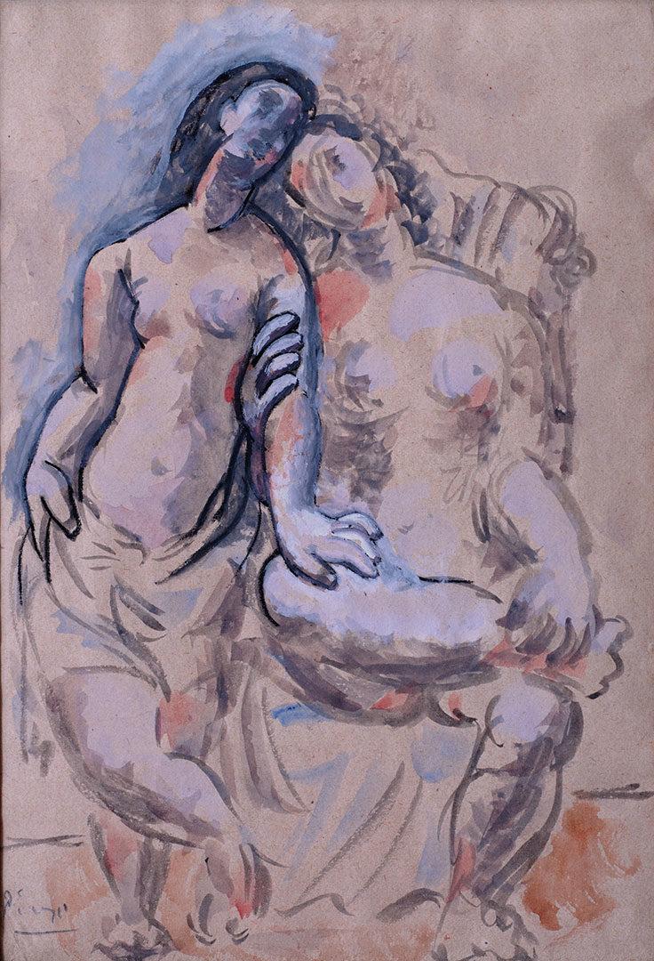 PICASSO E' NOTO Deux Femmes 1920