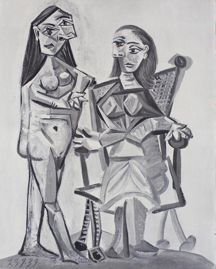 PICASSO E' NOTO Dans l'Atelier de Picasso 1957 Deux Femmes 23-09-1939
