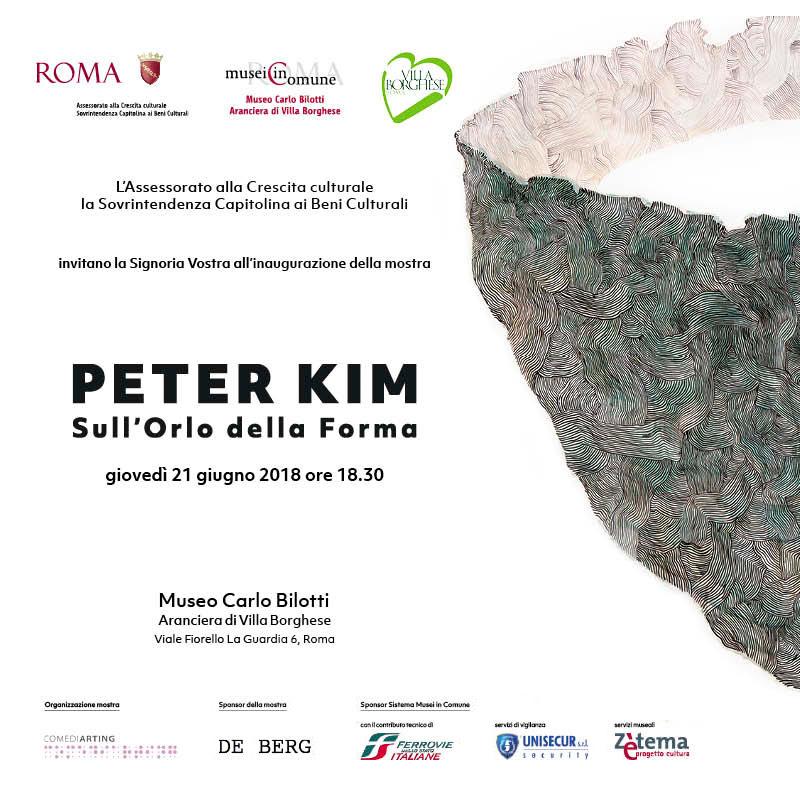PETER KIM A ROMA SULL'ORLO DELLA FORMA
